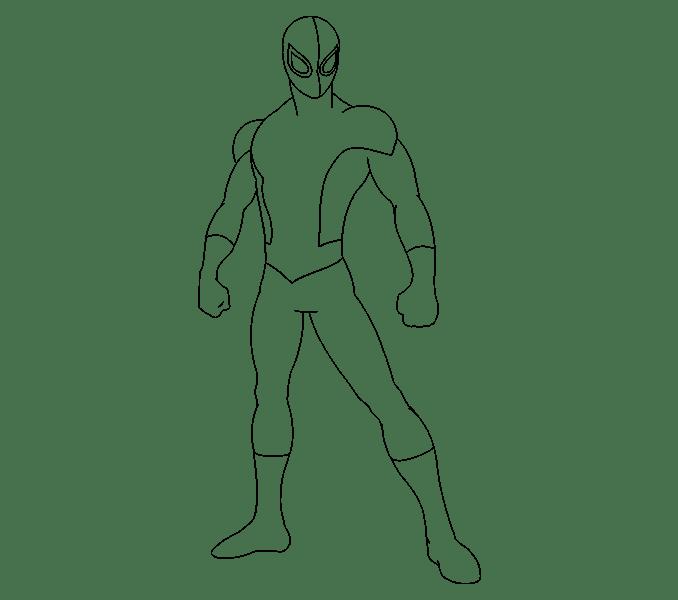 Cách vẽ Người nhện: Bước 15