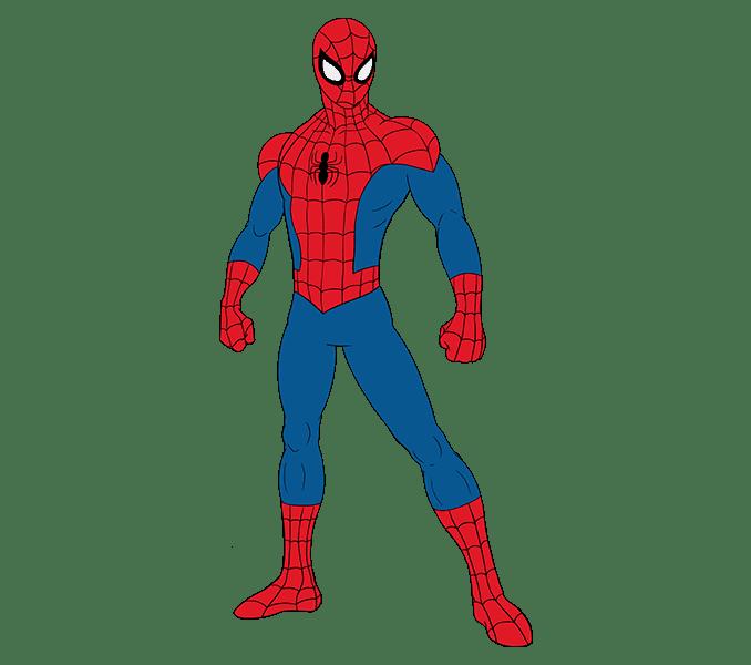 Cách vẽ Người nhện: Bước 20