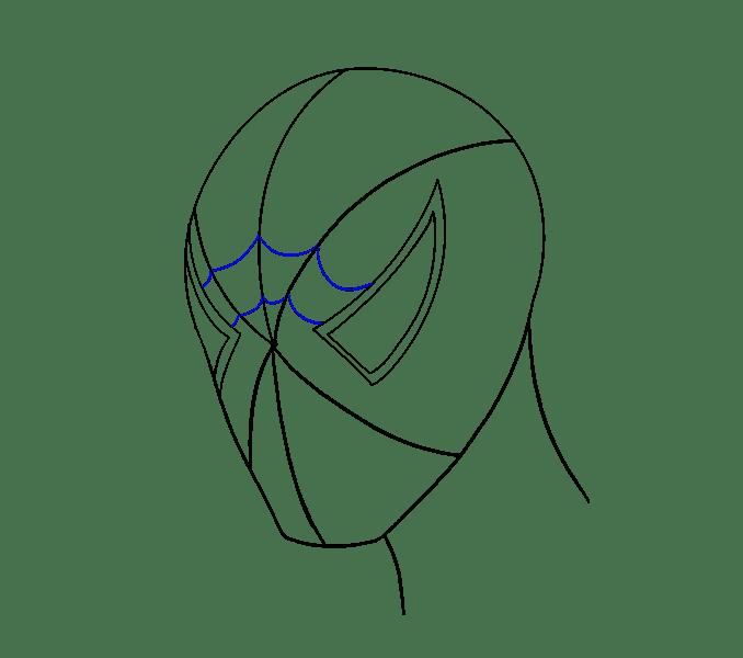 Cách vẽ khuôn mặt người nhện: Bước 11