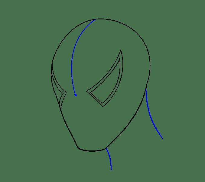 Cách vẽ khuôn mặt người nhện: Bước 5