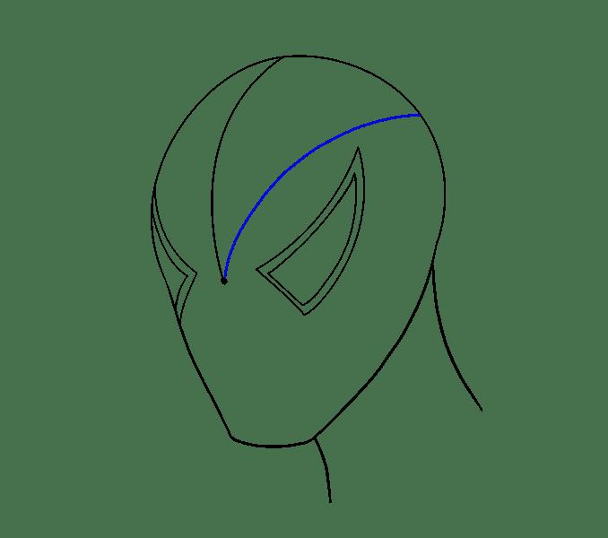 Cách vẽ khuôn mặt người nhện: Bước 6
