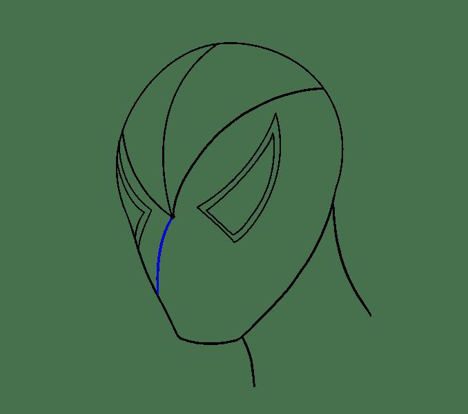 Cách vẽ khuôn mặt người nhện: Bước 8