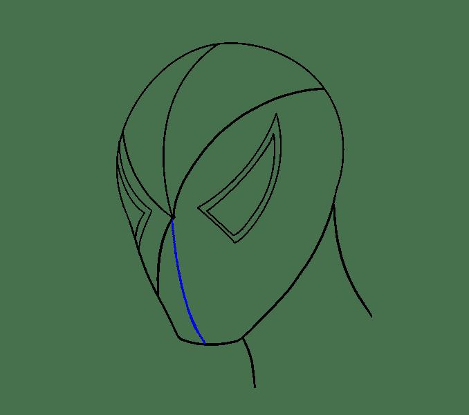 Cách vẽ khuôn mặt người nhện: Bước 9