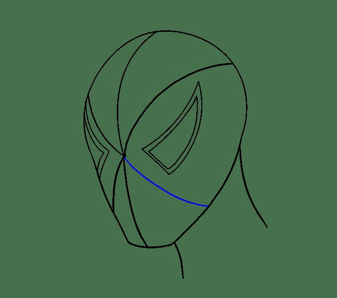 Cách vẽ khuôn mặt người nhện: Bước 10