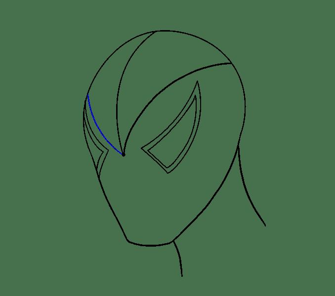 Cách vẽ khuôn mặt người nhện: Bước 7