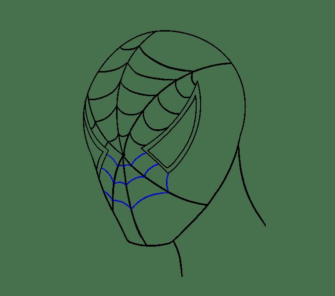 Cách vẽ khuôn mặt người nhện: Bước 14