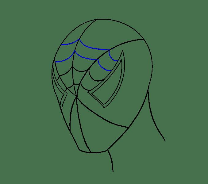 Cách vẽ khuôn mặt người nhện: Bước 12