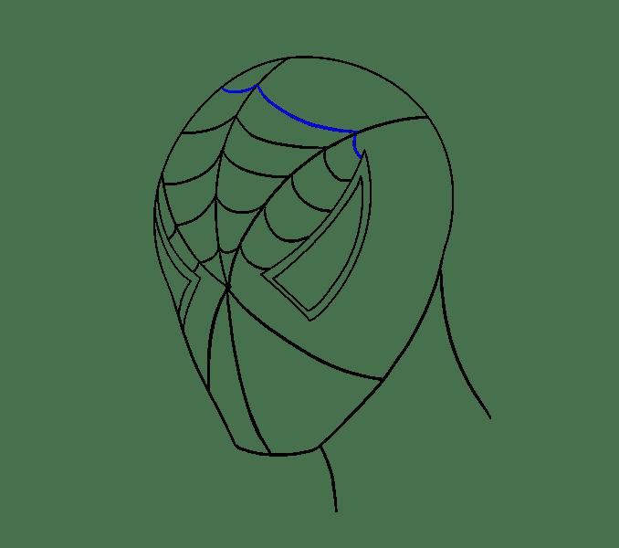 Cách vẽ khuôn mặt người nhện: Bước 13