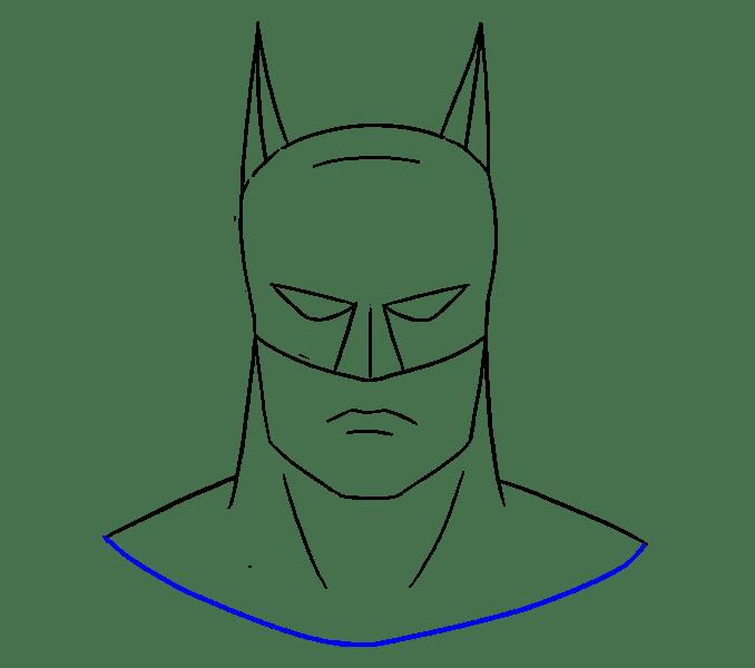 Cách vẽ khuôn mặt của Batman: Bước 16
