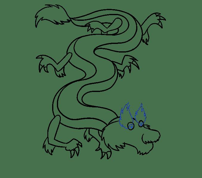 Cách vẽ rồng Trung Quốc: Bước 15