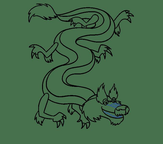 Cách vẽ rồng Trung Quốc: Bước 17
