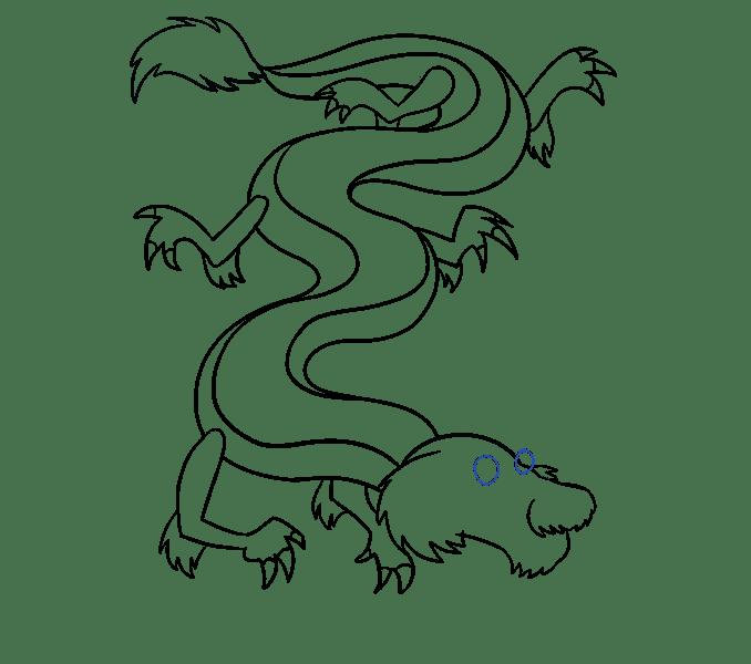 Cách vẽ rồng Trung Quốc: Bước 14