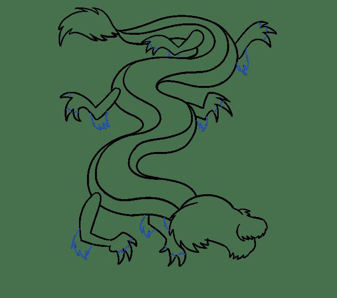 Cách vẽ rồng Trung Quốc: Bước 13