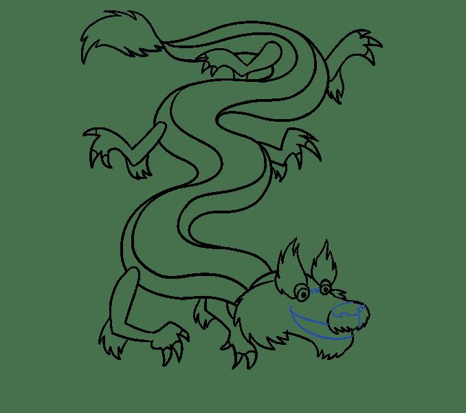 Cách vẽ rồng Trung Quốc: Bước 16