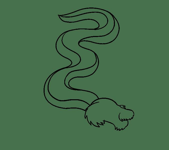Cách vẽ rồng Trung Quốc: Bước 10