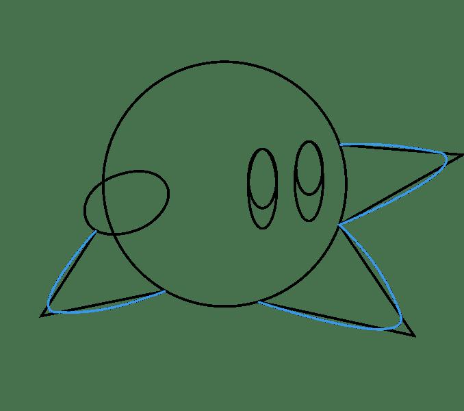 Cách vẽ Kirby: Bước 5