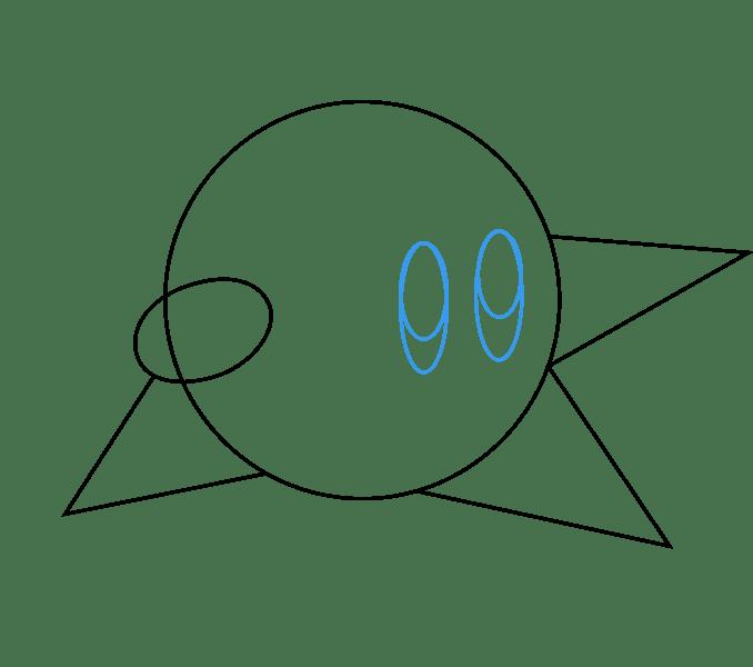 Cách vẽ Kirby: Bước 4