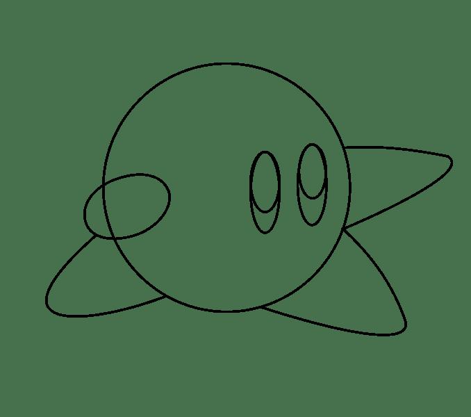 Cách vẽ Kirby: Bước 6