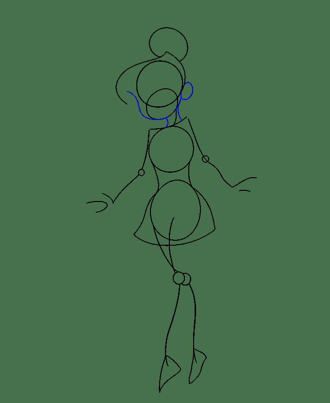 Cách vẽ Tinkerbell: Bước 10