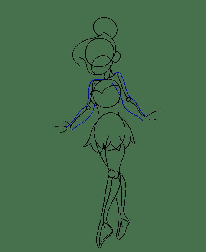 Cách vẽ Tinkerbell: Bước 13