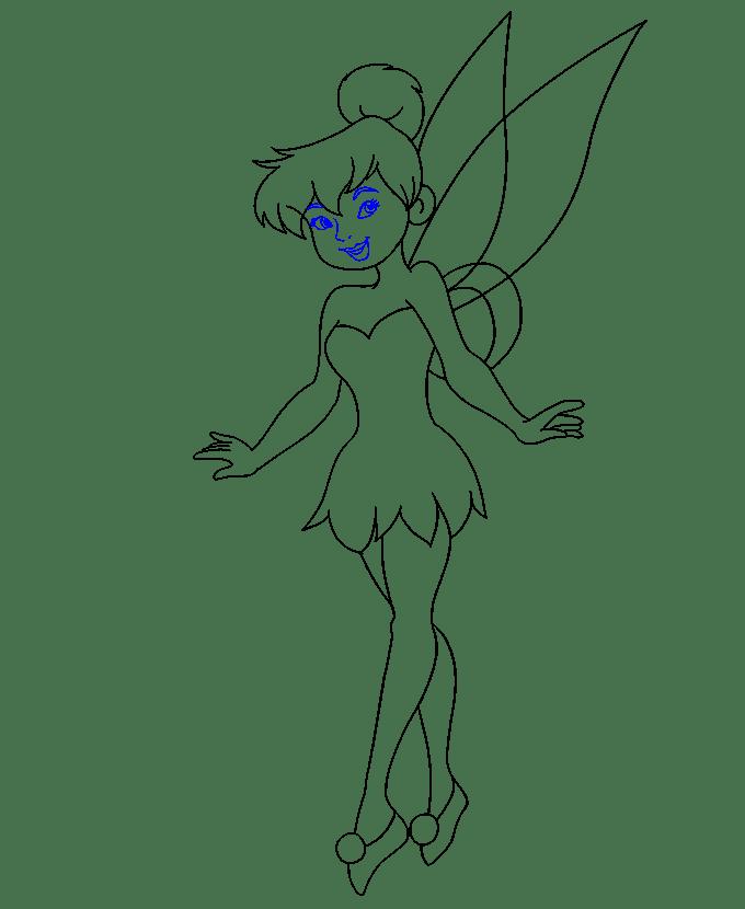 Cách vẽ Tinkerbell: Bước 19