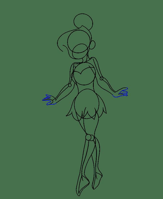 Cách vẽ Tinkerbell: Bước 14