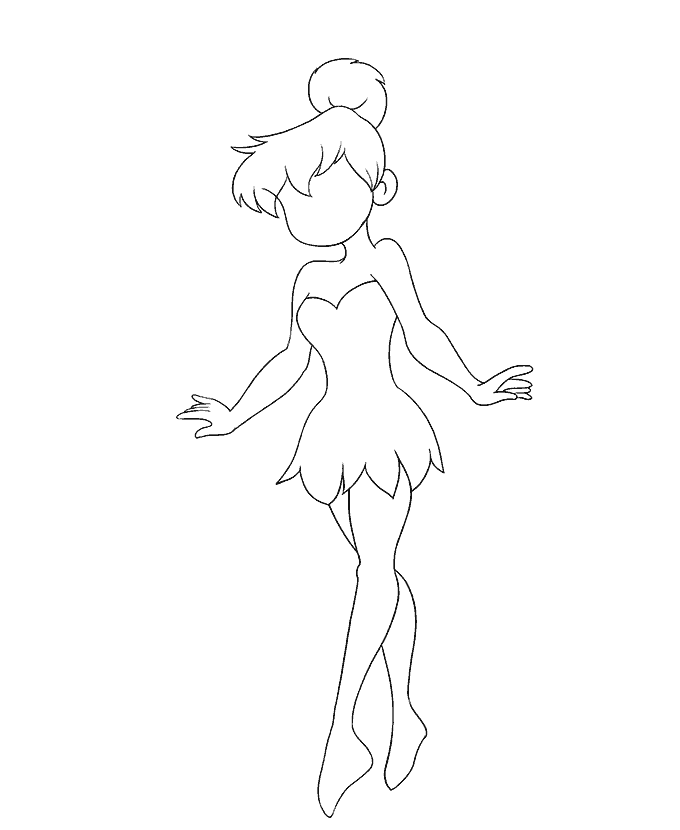 Cách vẽ Tinkerbell: Bước 16