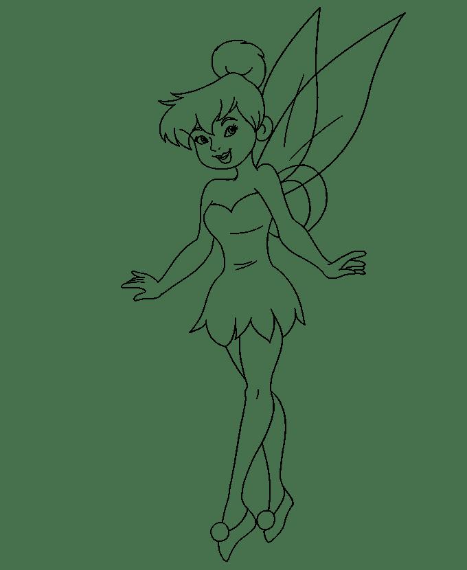 Cách vẽ Tinkerbell: Bước 20