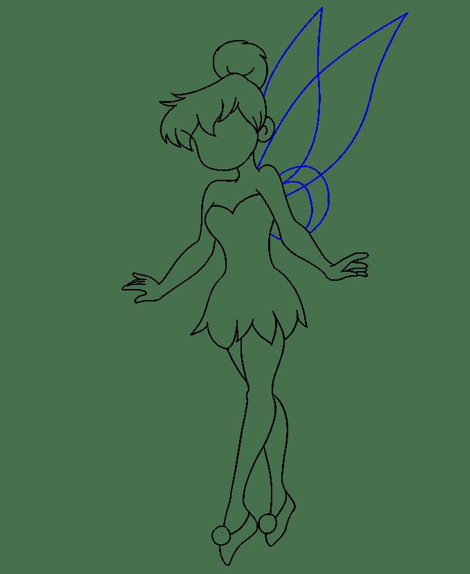 Cách vẽ Tinkerbell: Bước 18