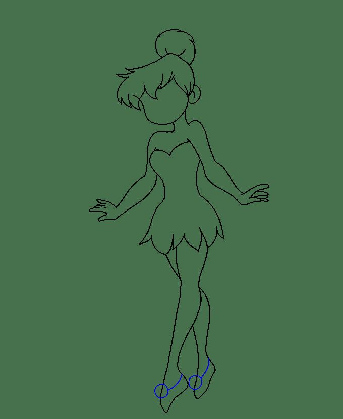 Cách vẽ Tinkerbell: Bước 17