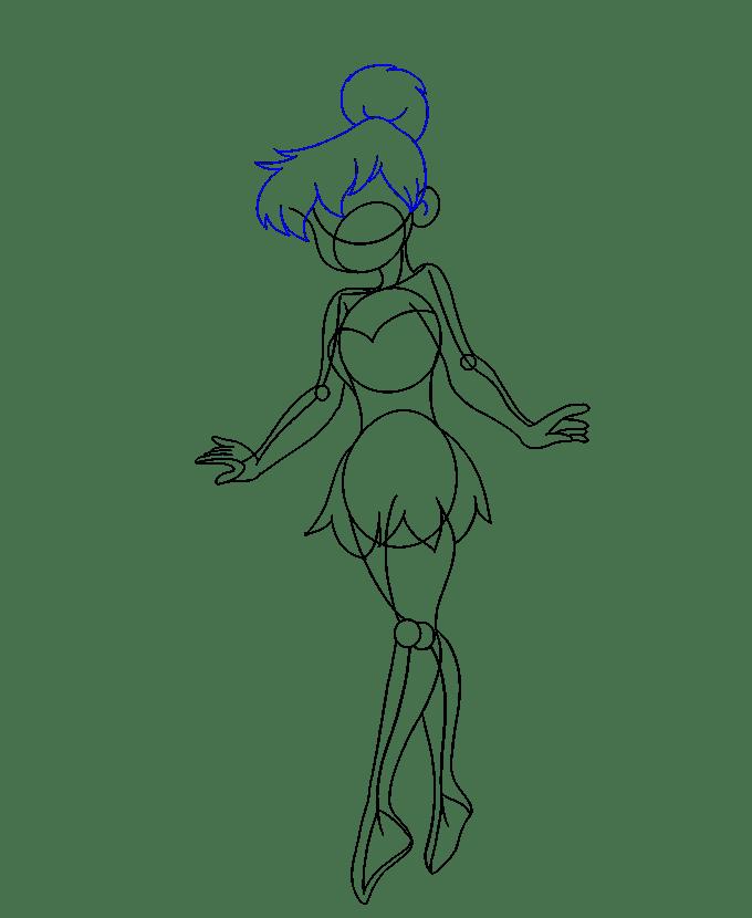 Cách vẽ Tinkerbell: Bước 15