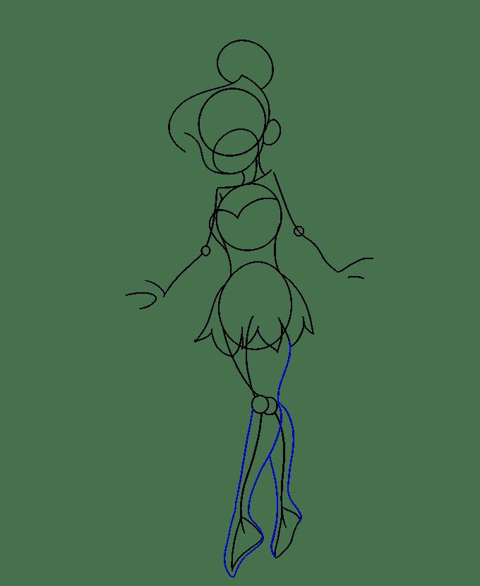 Cách vẽ Tinkerbell: Bước 12