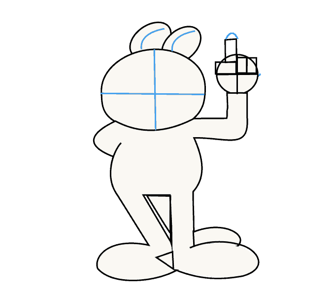 Cách vẽ Garfield: Bước 9