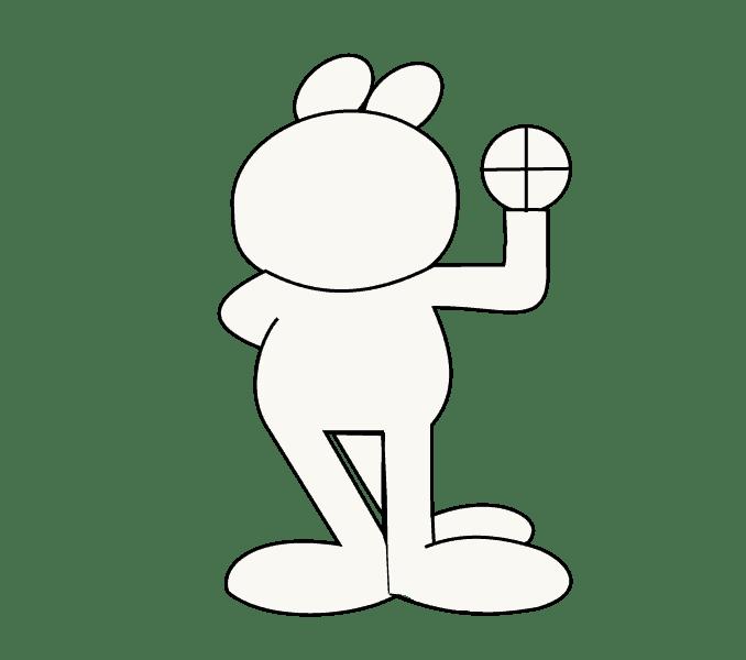 Cách vẽ Garfield: Bước 7