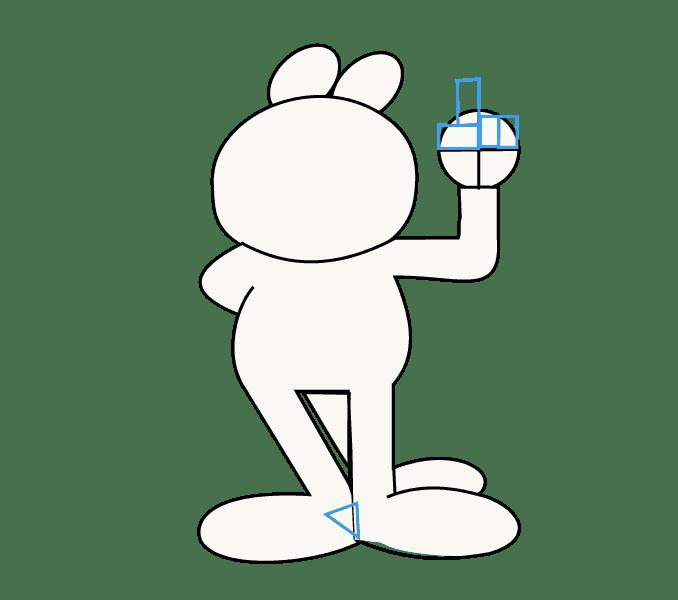 Cách vẽ Garfield: Bước 8