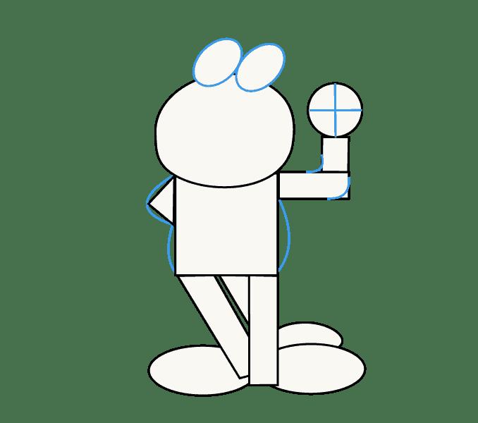 Cách vẽ Garfield: Bước 6
