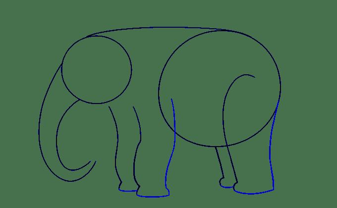 Cách vẽ voi: Bước 6