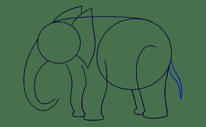 Cách vẽ voi: Bước 9