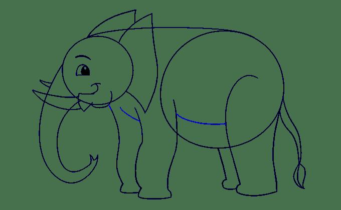 Cách vẽ voi: Bước 14