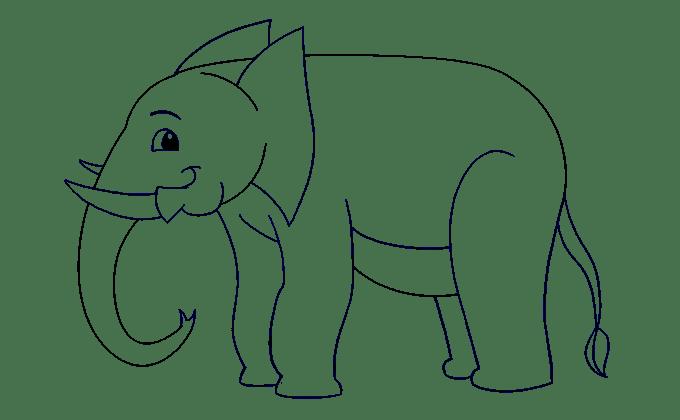 Cách vẽ voi: Bước 15