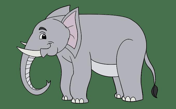 Cách vẽ voi: Bước 20