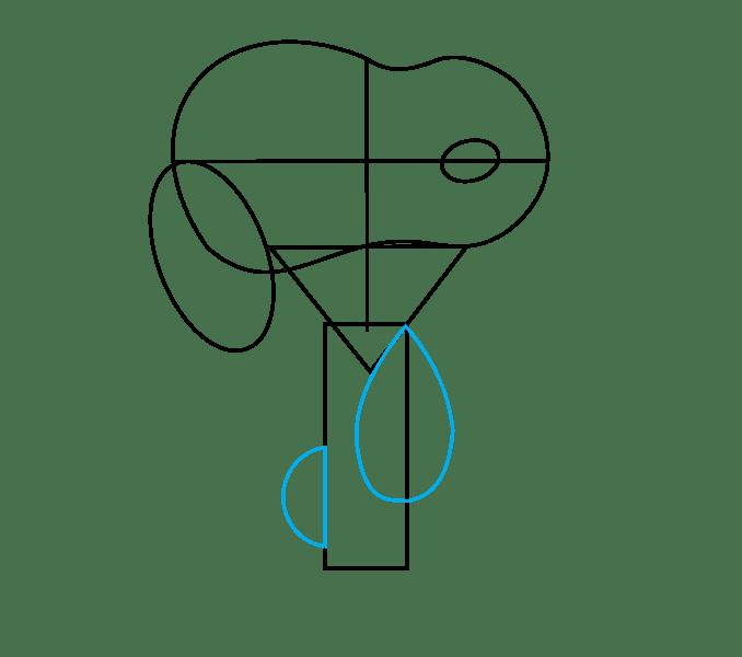 Cách vẽ Snoopy: Bước 6