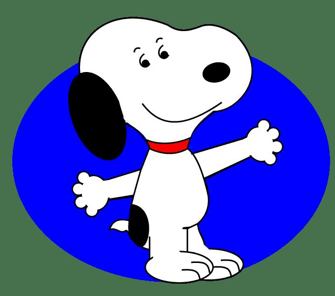 Cách vẽ Snoopy: Bước 14