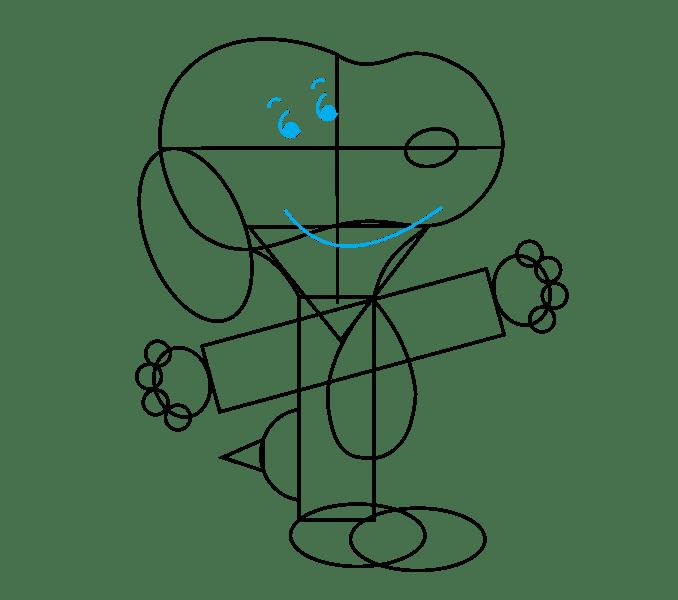 Cách vẽ Snoopy: Bước 12