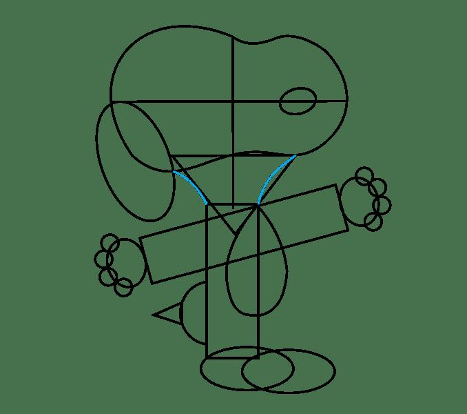 Cách vẽ Snoopy: Bước 11