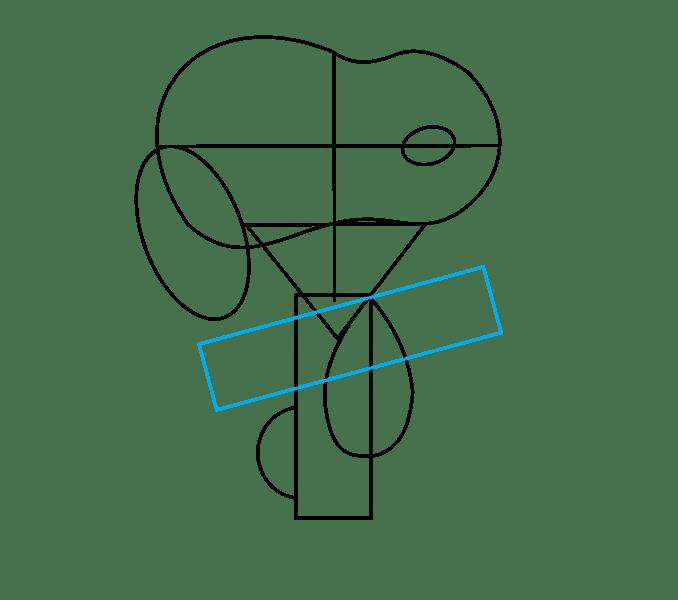 Cách vẽ Snoopy: Bước 7