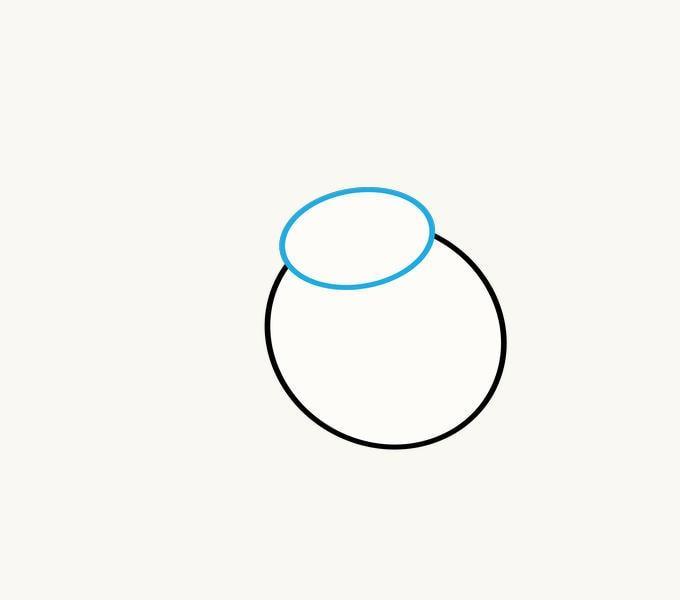 Cách vẽ Cartoon Bee: Bước 2