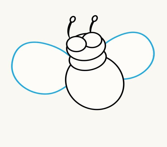 Cách vẽ Cartoon Bee: Bước 7
