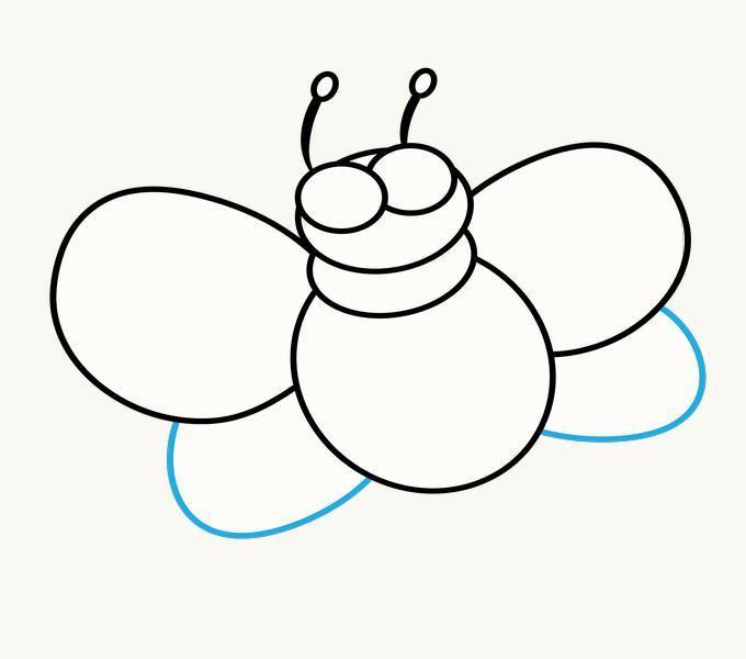 Cách vẽ Cartoon Bee: Bước 8