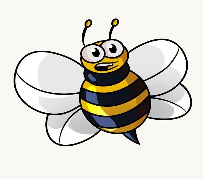 Cách vẽ Cartoon Bee: Bước 14